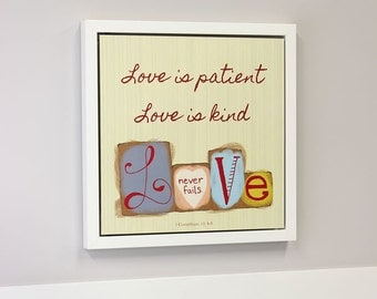 Dry Erase Board- Love Is Patient Open Art