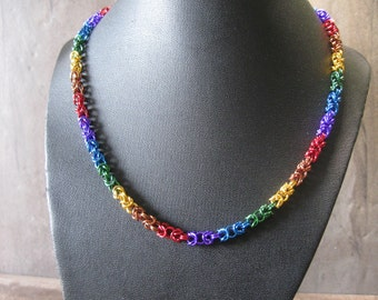 Byzantine Rainbow - Chainmaille Necklace