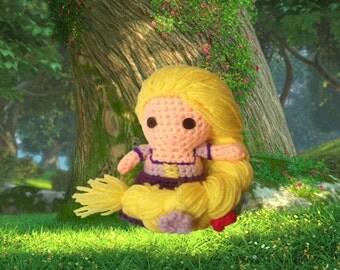 Rapunzel Inspired Amigurumi Doll