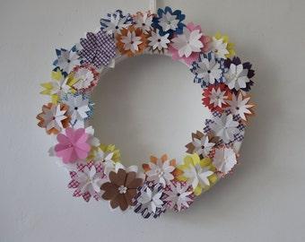 Crown of paper flowers