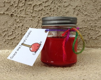 Candy Apple Mason Jar Candle