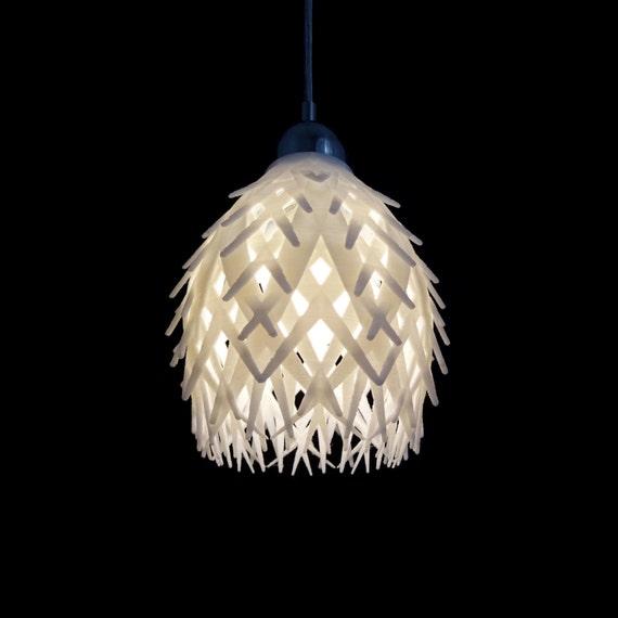 Fractal Pendant Lights: Palm Fractal 3D Printed Pendant Light