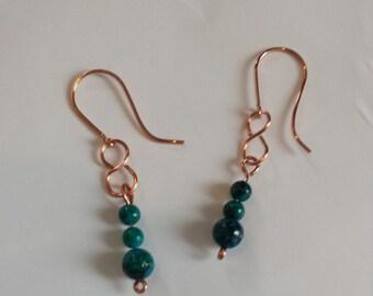 Australian Jasper Dangle Earrings