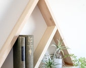 Triangle Wood Double Shelf - Divided