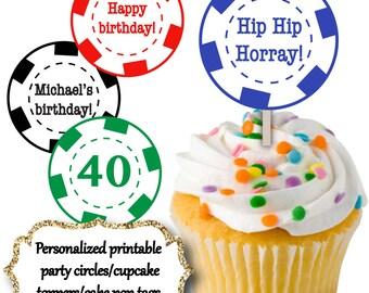 Gambling Cake Pop Tag