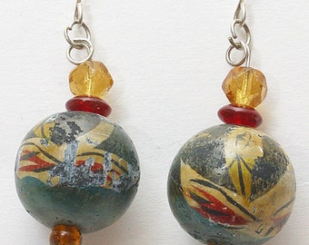 Indian Crane Earrings