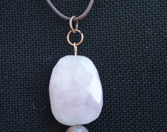 Necklace with Rose Quartz pendant