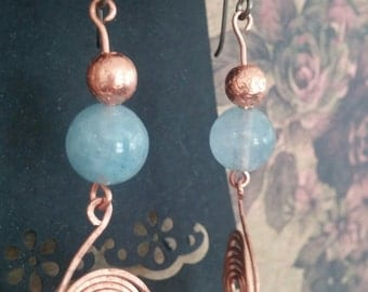 Copper with Baby Blue