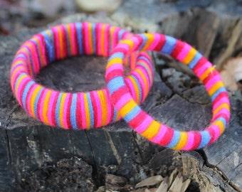 Bright Multi Colored Cotton Bracelets