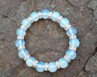 Opal Bracelet with Crystals