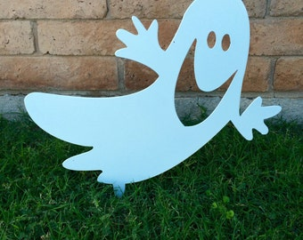ghost halloween decor halloween yard sign halloween ghost metal ghost outdoor - Etsy Halloween Decorations