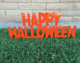 Happy Halloween Sign, Halloween Lawn Decor, Halloween Decor, Halloween Sign, Aluminum Sign