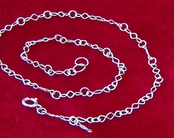 GLeeM's Sparkly Twisted Link Sterling Silver Welded Chain Necklace