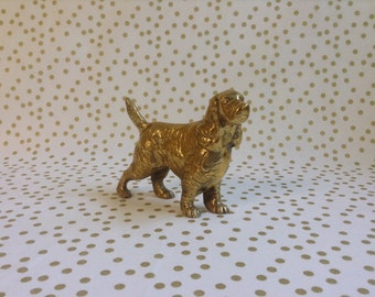 A Man's Brass Friend~Brass Lab~Labrador Retriever~Figurine~Solid Brass