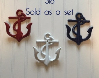 Red White & Blue Wall Anchors