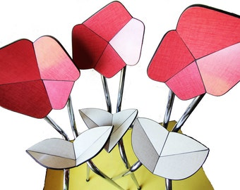 Sculpture, Formica, Origami of Lachaise: red flower