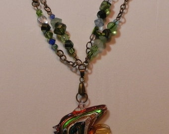 Antique Bronze Angelfish Necklace