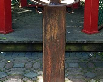 Metal Sculpture-Zen Garden-Metal Art-Zen Sculpture-Zen Art,aged copper,verdigris copper,outdoor metal art