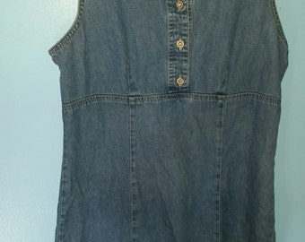 Vintage Blue Denim Dress
