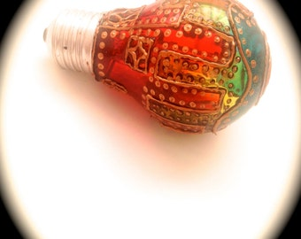 Bulb stained glass