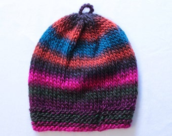Bright Stripe Knitted Hat