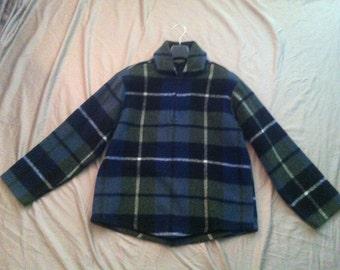 Mens Vintage 80's Campus & Career 100% Wool Flannel coat