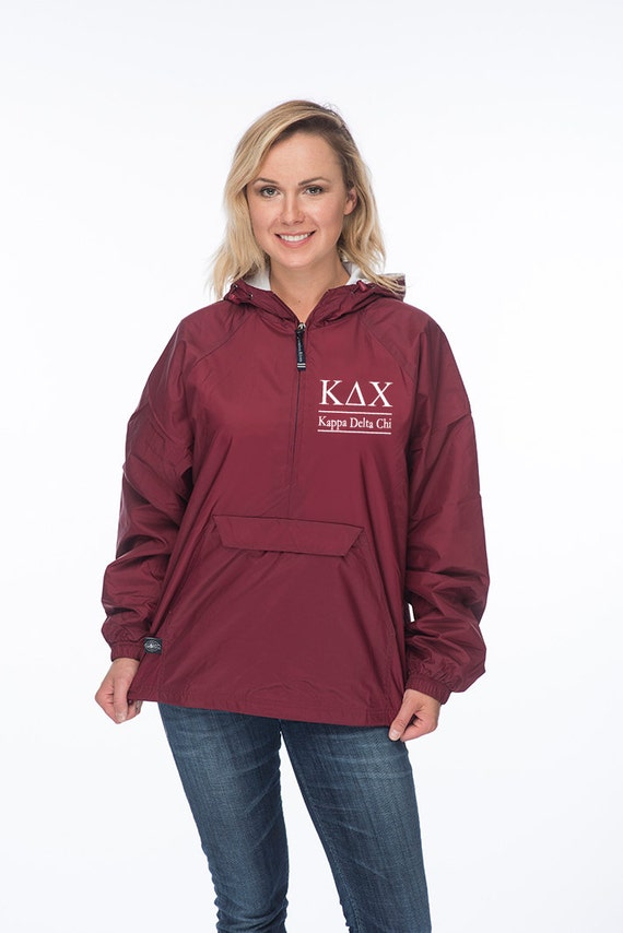 Kdx Kappa Delta Chi Windbreaker Lined With Soft Flannel