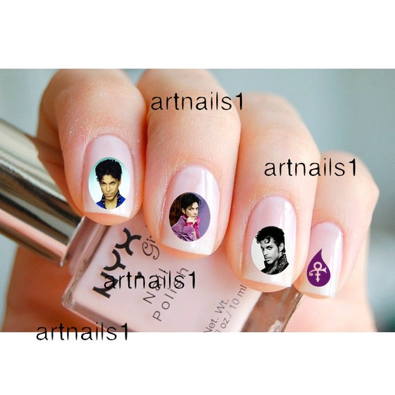 Prince Purple Rain Music Icon RIP Nail Art Nails By Artnails1