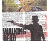 Dictionary Art Upcycle The Walking Dead