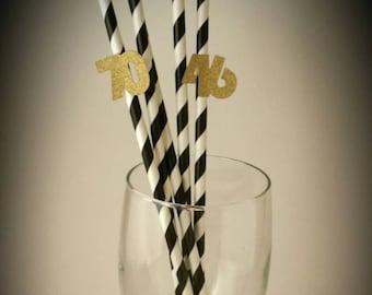 bithday paper straws, birthday straws, birthday party decorations, party straws, 1st birthday straws, embelished straws, straw flags