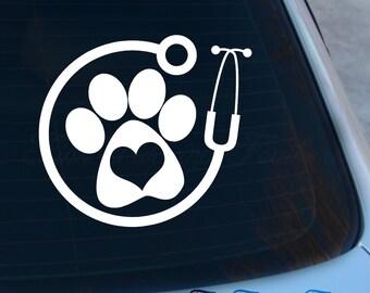 Veterinarian Decal - Vet Sticker - Laptop - Macbook - Car Decal