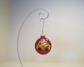 Santa NYC Taxi Ornament Handpainted