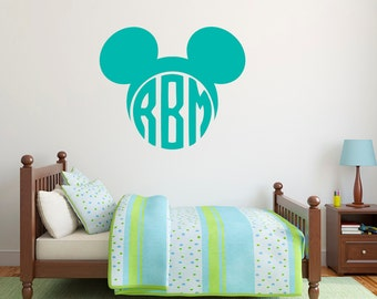 Family Monogram Letters Wall Decal Two Letter Monogram Decal - Monogram wall decals letters