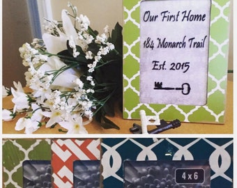 Our First Home Vinyl Lettering Frame