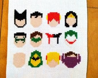 DC Heroes & Villains Minimal 8 Bit Heads