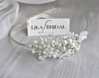 Bridal Headband Wedding Headband Crystal Headband Bridal Headpiece Wedding Headpiece Bridal Wreath Hair Comb Wedding Accessories Hair Wreath