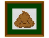 Funny Poop Cross Stitch Pattern. Counted Pattern. PDF Instant Download. Bathroom Wall Decor. Art.