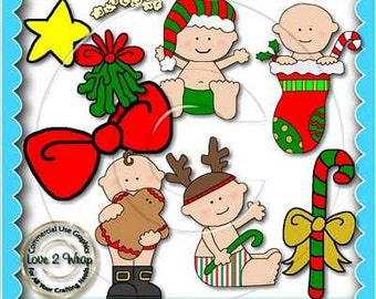Christmas Babies, Clipart, Commercial Use,