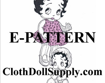 E-Pattern – Baby Betty Boop Doll Sewing Pattern #EP 675