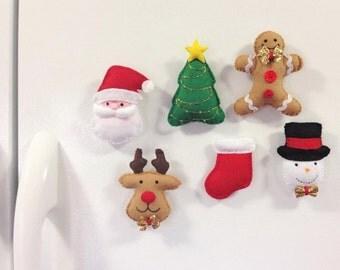 Christmas Magnets Set - Christmas decor- Christmas ornaments