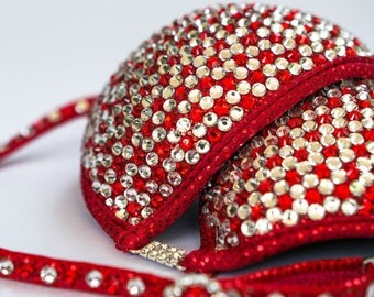 Red Crystal Competition Bikini (CB003)