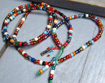 Multicolored necklace in beads #2