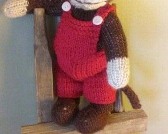 Handknit Monkey Stuffed Animal for children