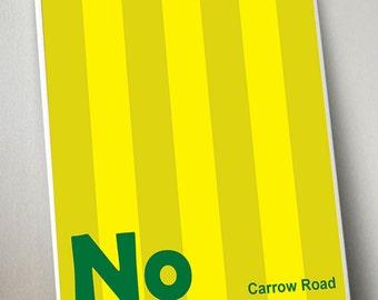 Norwich City Print A3 Artwork