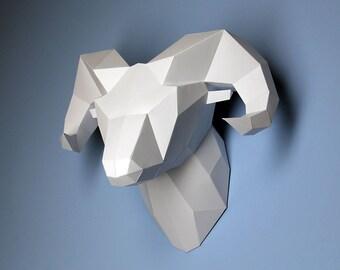 DIY paper ram head | Сardboard | PDF | Template |