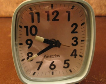 Westclox Vintage 'Wind Up' Alarm Clock. Brought to you by UsefulRetro! Made in USA!