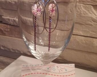 Purple madness earrings