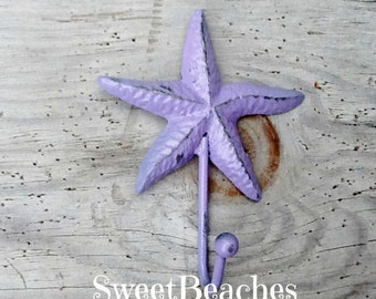 Starfish Hook Clothes Towel Beach Seaside Resort Nautical Ocean Sea Decor