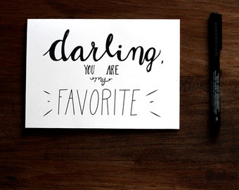Darling You are My Favorite - PRINTABLE Valentine's Day Card