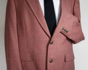 Men's Blazer/Vintage 1970's Jack Nicklaus/ Soft Raspberry Shade/Summer Blazer/ Hart Schaffner & Marx for Klopenstein's.  39